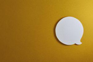 Header image of speech bubble